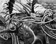 Cowboy Art Art - Leather and Loops by Glen Powell