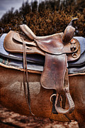 Worn Leather Metal Prints - Leather Metal Print by Kelley King