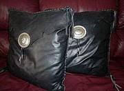 Yvonne Cacy - Leather Pillows/set