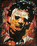 Blood Painting Originals - Leatherface by Jeremy Moore