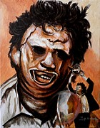 Leatherface Unleashed Print by Al  Molina