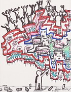 Art Brut Drawings - Leave A Mark by Robert Wolverton Jr