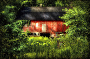 Dilapidated Digital Art Prints - Leave Our Farms Print by Lois Bryan