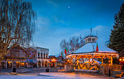 Leavenworth Christmas Moon Print by Inge Johnsson