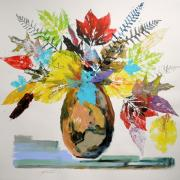 Williams Mixed Media Posters - Leaves and Fronds Poster by John  Williams