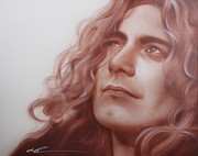 Led Zeppelin Paintings - Leaves are Falling all Around by Christian Chapman Art