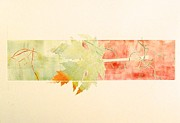 Printmaking Originals - Leaves Seasoning the Autumn Air by Kate Orrange
