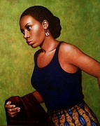 African Woman Prints - Leaving 2 The Actress Print by Carla Nickerson