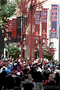 Red Sox Art Digital Art Posters - Leaving Fenway Park Poster by David Leiman