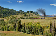 Steam Engine Photos - Leaving Laboto by Ken Smith