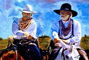 Lonesome Dove Posters - Leaving Lonesome Dove Poster by Peter Nowell