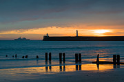 Breakwater Prints - Leaving Port Print by David Bowman