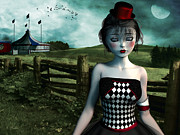 Feelings Digital Art - Leaving the circus by Britta Glodde