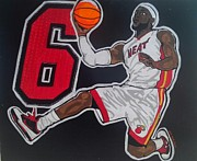 Lebron Painting Metal Prints - Lebron Metal Print by Gary Niles