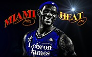 Lebron Metal Prints - Lebron James Metal Print by Carlos Diaz