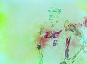 Mvp Mixed Media Prints - Lebron James Hardwork Print by Brian Reaves