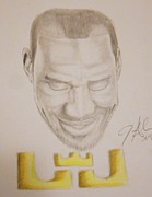 Lebron Drawings Originals - Lebron James by Janee Alexander