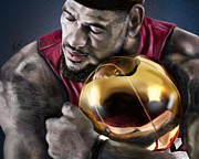 Lebron James Painting Framed Prints - LeBron James - My Way Framed Print by Reggie Duffie