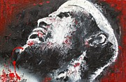 Miami Heat Painting Originals - Lebron James by Pete Lopez