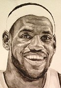 Miami Heat Painting Prints - Lebron James Print by Tamir Barkan