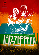 Art Rock Posters - Led Lezzpelin Poster by Farhad Tamim
