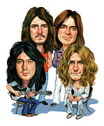 Caricature Paintings - Led Zeppelin by Art