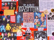 Art In Acrylic Photo Framed Prints - Led Zeppelin  Collage Number One Framed Print by Donna Wilson