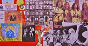 Autographs Framed Prints - Led Zeppelin  Collage Number Two Framed Print by Donna Wilson
