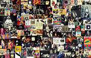 Music Metal Prints - Led Zeppelin Collage Metal Print by Taylan Soyturk