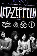 Concerts Metal Prints - Led Zeppelin Metal Print by FHT Designs