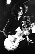 Led Zeppelin Photo Prints - Led Zeppelin Jimmy Page 1972 Print by Chris Walter