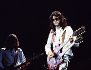 Led Zeppelin Photo Prints - Led Zeppelin Jimmy Page 1977 Print by Chris Walter