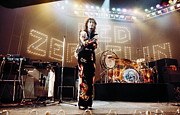 Live Music Prints - Led Zeppelin Lights 1975 Color Print by Chris Walter