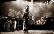 Led Zeppelin Photo Prints - Led Zeppelin Lights 1975 Tinted Print by Chris Walter