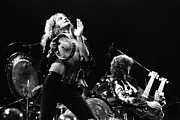 Live Music Metal Prints - Led Zeppelin Live 1975 Metal Print by Chris Walter