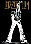 Rock Guitar Player Framed Prints - Led Zeppelin No.06 Framed Print by Caio Caldas