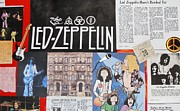 Music Articles Framed Prints - Led Zeppelin Past Times Framed Print by Donna Wilson