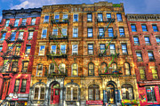 Rock And Roll Music Prints - Led Zeppelin Physical Graffiti Building in Color Print by Randy Aveille