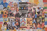 Led Zeppelin Greeting Cards Framed Prints - Led Zeppelin Years Framed Print by Donna Wilson