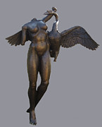 Geese Sculptures - Leda by Lina Tricocci