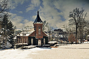 Snow Scenes Metal Prints - Lee Chapel February 2012  Metal Print by Kathy Jennings