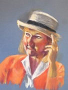 Hat Pastels - Lee - Live Model Painting by Yoshiko Mishina