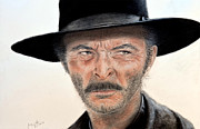 Strip Mixed Media - Lee Van Cleef as Angel Eyes in The Good the Bad and the Ugly by Jim Fitzpatrick