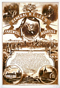 Farewell Address Posters - Lees Farewell Address 1865 Poster by Padre Art