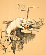 Left Alone In Her Dressing Room Print by Cecil Charles Windsor Aldin