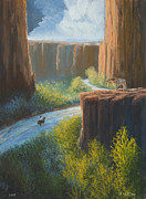 Canyon Painting Originals - Left Behind by Jerry McElroy