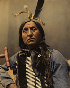 Oglala Prints - Left Hand Bear Oglala Sioux Chief Print by Heyn Photo