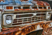 Rusted Cars Framed Prints - Left to Rust by Diana Sainz Framed Print by Diana Sainz