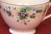 All - Lefton China - Violet Chintz Teacup by Lynn-Marie Gildersleeve