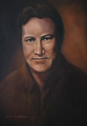 Lisa Phillips Owens Painting Prints - Lefty Frizzell Print by Lisa Phillips Owens